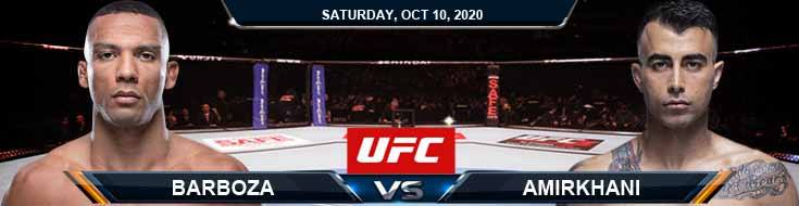 UFC Fight Night 179 Barboza vs Amirkhani 10-10-2020 Fight Analysis, Forecast and Tips