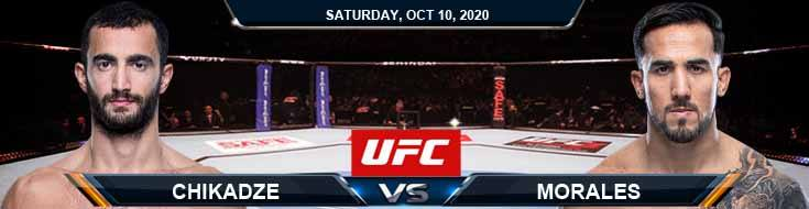 UFC Fight Night 179 Chikadze vs Morales 10-10-2020 Predictions UFC Previews and Spread