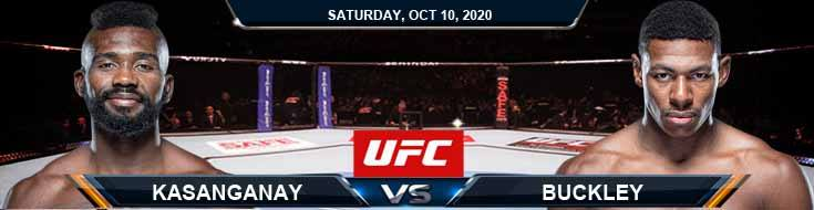 UFC Fight Night 179 Kasanganay vs Buckley 10-10-2020 Odds UFC Picks and Predictions