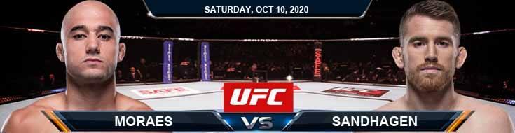 UFC Fight Night 179 Moraes vs Sandhagen 10-10-2020 Odds UFC Picks and Predictions