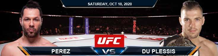 UFC Fight Night 179 Perez vs Du Plessis 10-10-2020 Previews Spread and Fight Analysis