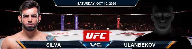 UFC Fight Night 179 Silva vs Ulanbekov 10-10-2020 Previews Spread and Fight Analysis