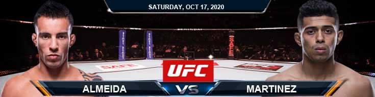 UFC Fight Night 180 Almeida vs Martinez 10-17-2020 Spread Fight Analysis and Forecast