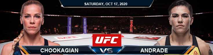UFC Fight Night 180 Chookagian vs Andrade 10-17-2020 Predictions Previews and Spread