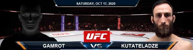 UFC Fight Night 180 Gamrot vs Kutateladze 10-17-2020 Fight Analysis Forecast and Tips
