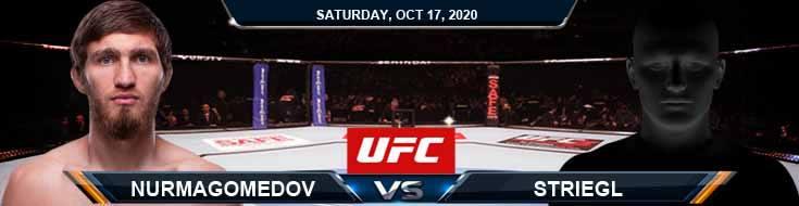 UFC Fight Night 180 Nurmagomedov vs Striegl 10-17-2020 Picks Predictions and Previews