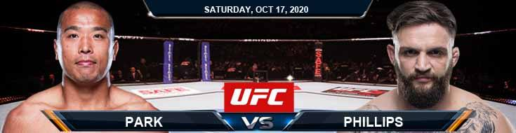 UFC Fight Night 180 Park vs Phillips 10-17-2020 Results Analysis and Odds