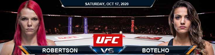 UFC Fight Night 180 Robertson vs Botelho 10-17-2020 Forecast Tips and Results