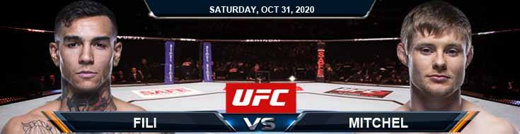 UFC Fight Night 181 Fili vs Mitchell 10-31-2020 Picks Predictions and Previews