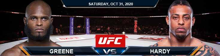UFC Fight Night 181 Greene vs Hardy 10-31-2020 Previews Spread and Fight Analysis