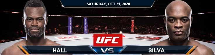 UFC Fight Night 181 Hall vs Silva 10-31-2020 Odds Picks and Predictions