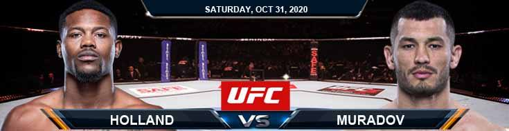 UFC Fight Night 181 Holland vs Muradov 10-31-2020 Predictions Previews and Spread