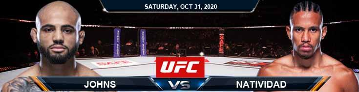 UFC Fight Night 181 Johns vs Natividad 10-31-2020 Picks Predictions and Previews