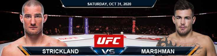 UFC Fight Night 181 Strickland vs Marshman 10-31-2020 Tips Results and Analysis