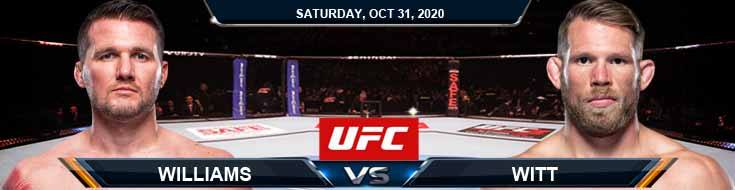 UFC Fight Night 181 Williams vs Witt 10-31-2020 Results Analysis and Odds