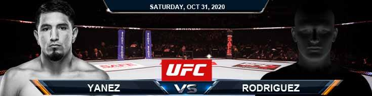UFC Fight Night 181 Yanez vs Rodriguez 10-31-2020 Forecast Tips and Results