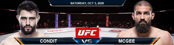 UFC on ESPN 16 Condit vs McGee 10-03-2020 Fight Analysis Forecast and Tips