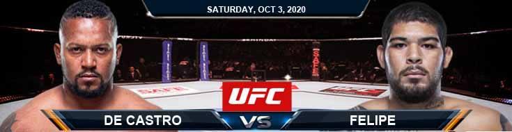 UFC on ESPN 16 De Castro vs Felipe 10-03-2020 Picks Predictions and Previews