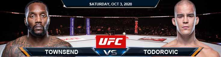 UFC on ESPN 16 Townsend vs Todorovic 10-03-2020 Spread Fight Analysis and Forecast