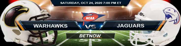 UL Monroe Warhawks vs South Alabama Jaguars 10-24-2020 NCAAF Spread Picks & Previews
