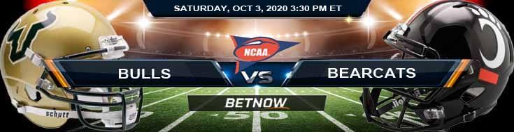 USF Bulls vs Cincinnati Bearcats 10-03-2020 NCAAF Forecast Picks & Spread