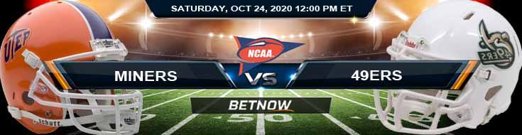 UTEP Miners vs Charlotte 49ers 10-24-2020 NCAAF Previews Tips & Results