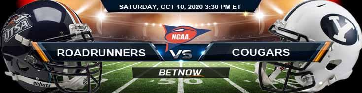 UTSA Roadrunners vs BYU Cougars 10-10-2020 NCAAF Predictions Picks & Previews
