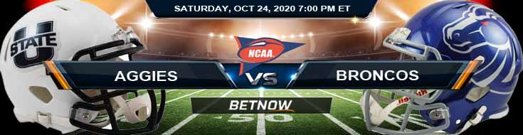 Utah State Aggies vs Boise State Broncos 10-24-2020 NCAAF Odds Previews & Tips