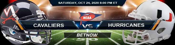 Virginia Cavaliers vs Miami Hurricanes 10-24-2020 NCAAF Game Analysis Tips & Spread