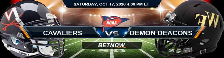 Virginia Cavaliers vs Wake Forest Demon Deacons 10-17-2020 NCAAF Predictions Odds & Previews