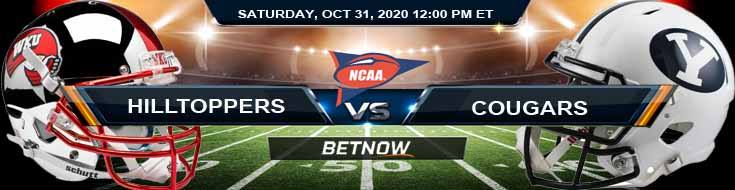 WKU Hilltoppers vs BYU Cougars 10-31-2020 NCAAF Previews, Odds & Spread