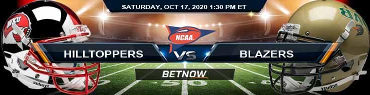 WKU Hilltoppers vs UAB Blazers 10-17-2020 NCAAF Forecast Odds & Spread