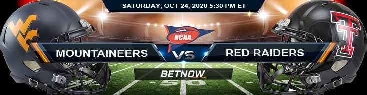 West Virginia Mountaineers vs Texas Tech Red Raiders 10-24-2020 NCAAF Predictions Odds & Previews