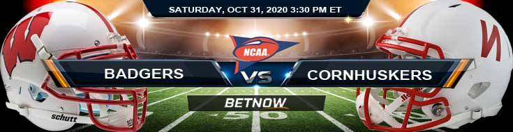 Wisconsin Badgers vs Nebraska Cornhuskers 10-31-2020 NCAAF Picks Previews & Game Analysis