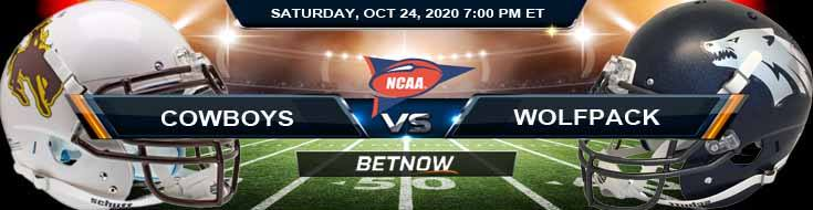 Wyoming Cowboys vs Nevada Wolf Pack 10-24-2020 NCAAF Results Odds & Predictions