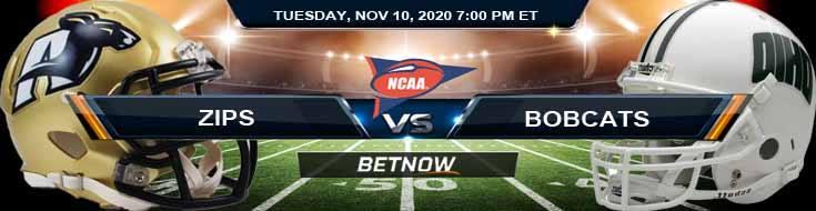 Akron Zips vs Ohio Bobcats 11-10-2020 NCAAF Odds Picks & Predictions