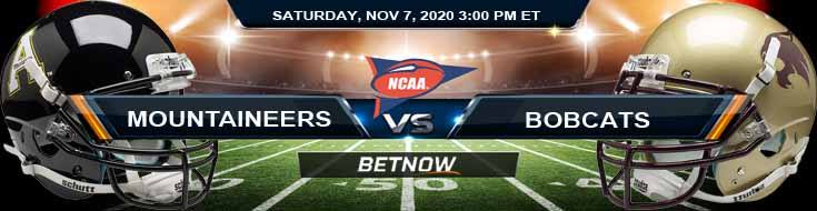 Appalachian State Mountaineers vs Texas State Bobcats 11-07-2020 NCAAF Predictions Odds & Previews