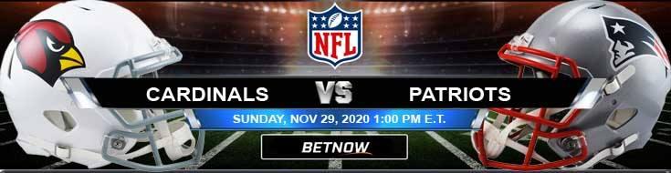 Arizona Cardinals vs New England Patriots 11-29-2020 Previews Spread and Game Analysis