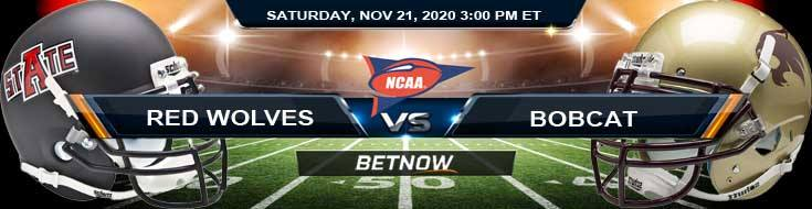 Arkansas State Red Wolves vs Texas State Bobcat 11-21-2020 NCAAF Forecast Tips & Odds