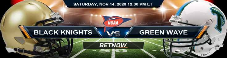 Army Black Knights vs Tulane Green Wave 11-14-2020 Predictions NCAAF Picks & Previews