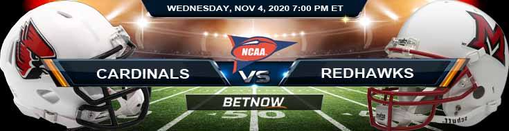 Ball State Cardinals vs Miami-OH RedHawks 11-04-2020 NCAAF Predictions Previews & Spread