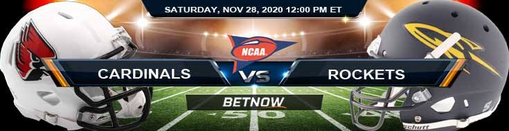 Ball State Cardinals vs Toledo Rockets 11-28-2020 NCAAF Tips Previews & Game Analysis