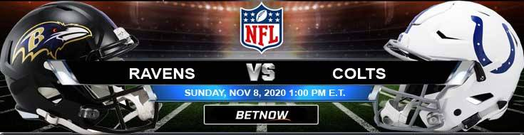 Baltimore Ravens vs Indianapolis Colts 11-08-2020 Picks NFL Predictions and Previews