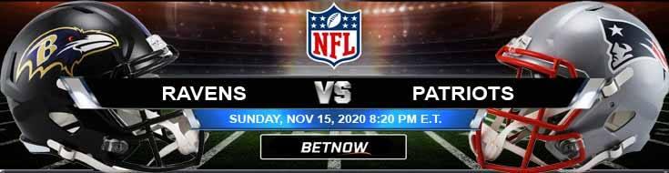 Baltimore Ravens vs New England Patriots 11-15-2020 Picks NFL Predictions and Previews