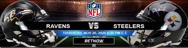 Baltimore Ravens vs Pittsburgh Steelers 11-26-2020 Predictions Previews and Spread