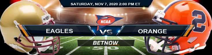 Boston College Eagles vs Syracuse Orange 11-07-2020 Previews NCAAF Picks & Spread