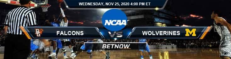 Bowling Green Falcons vs Michigan Wolverines 11-25-2020 Odds NCAAB Picks and Predictions