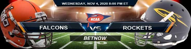 Bowling Green Falcons vs Toledo Rockets 11-04-2020 NCAAF Results Odds & Predictions