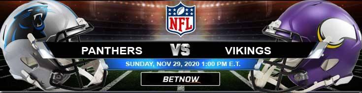 Carolina Panthers vs Minnesota Vikings 11-29-2020 Spread Game Analysis and Tips