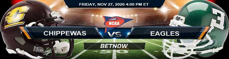 Central Michigan Chippewas vs Eastern Michigan Eagles 11-27-2020 NCAAF Results Odds & Predictions